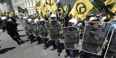 Festnahmen bei Identitären-Demo