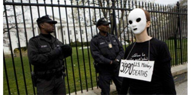 Landesweite Proteste in den USA gegen Irak-Krieg