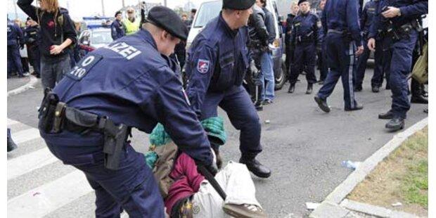 Demo gegen Polizeigewalt in Linz
