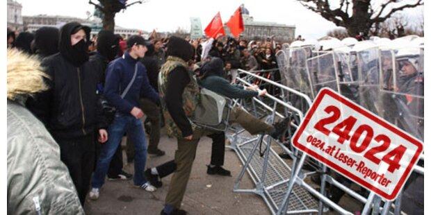 Angelobung unter Polizeischutz