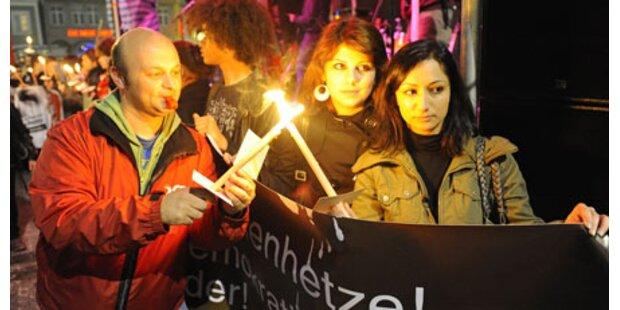 Lichtermeer gegen Rechts in Linz