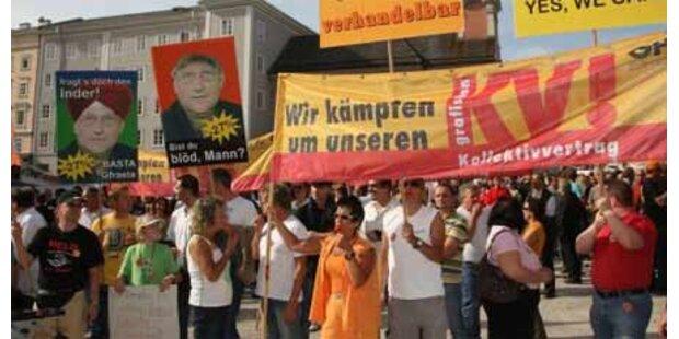 15.000 Teilnehmer bei Lohn-Demo erwartet