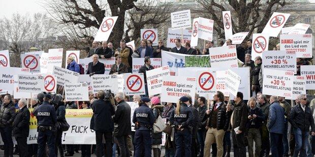 Wirte-Protest vor Kanzleramt