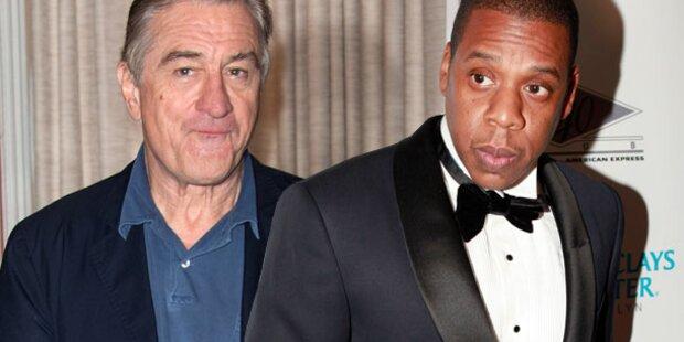 De Niro & Jay-Z: Wilder Streit auf Leos Party