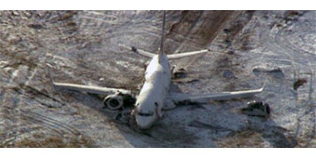 Vollbesetztes US-Flugzeug fing Feuer
