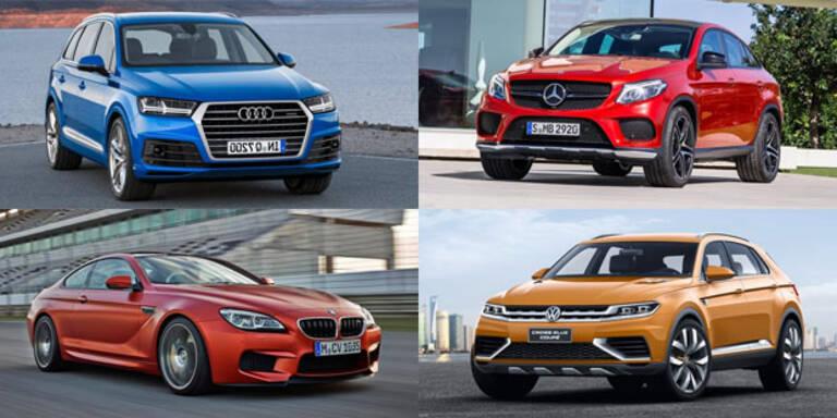 BMW, Audi, Mercedes und VW in Detroit