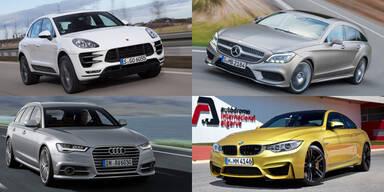 Rekorde für Porsche, Mercedes, BMW & Audi