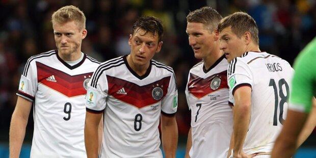 Deutschland trifft heute im ersten Halbfinale auf Brasilien