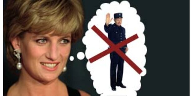 Prinzessin Diana lehnte Polizeischutz ab