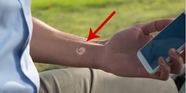 """Digitales """"Tattoo"""" entsperrt Handys"""