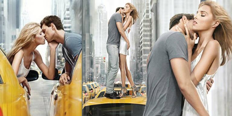 Verliebtes Topmodel-Pärchen in New York