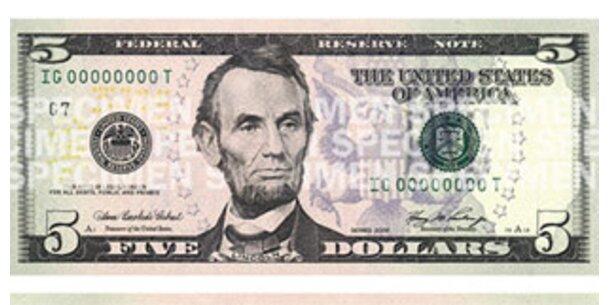 Neuer Fünf-Dollar-Schein im Umlauf