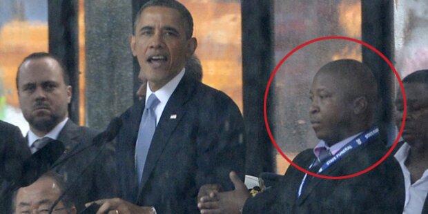 Falscher Mandela-Dolmetsch macht Werbung