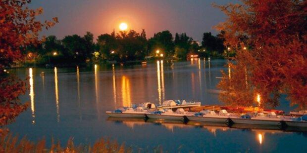 Die Alte Donau lockt mit Vollmond-Fahrten