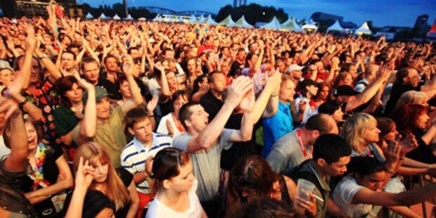 Eine Million Besucher stürmen Donauinsel