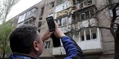 Ukraine: Artilleriefeuer auf Donezk
