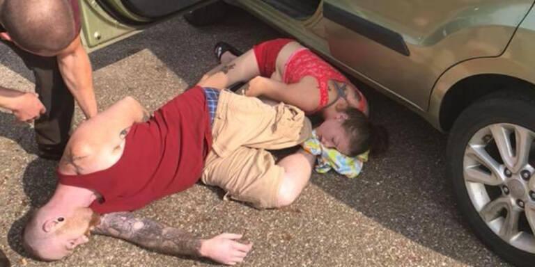Eltern mit Heroin-Überdosis lassen Baby in Hitze-Auto