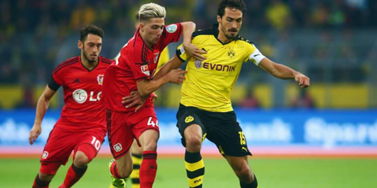 Dortmund gewann 3:0 gegen Leverkusen