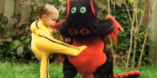 Kung Fu-Baby verprügelt Drachen