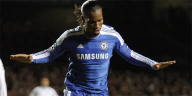 Drogba schießt Chelsea ins Achtelfinale