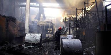 Großbrand in Druckerei Leykam - keine Verletzten