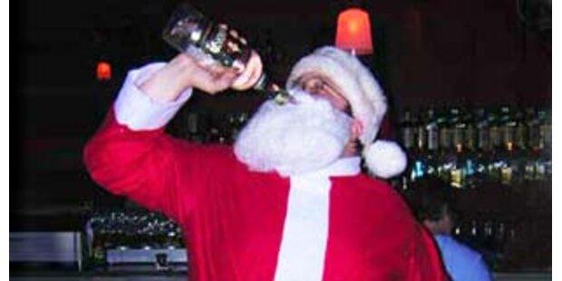 Betrunkene Weihnachtsmänner randalierten