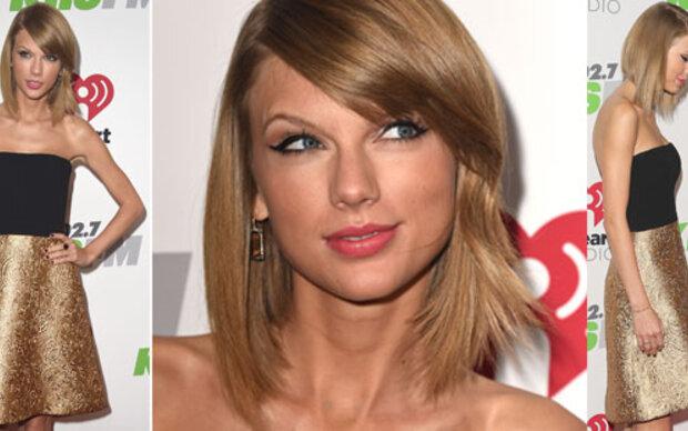 Taylor Swift: Goldkehlchen im Gold-Röckchen
