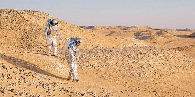 Österreicher probten Mission Mars