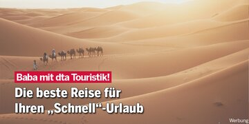 """Baba mit dta Touristik! : Die beste Reise für den """"Schnell""""-Urlaub"""