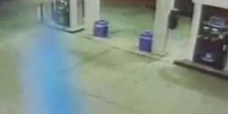 Mysteriöser Geist an US-Tankstelle