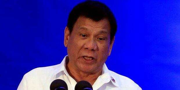 Duterte beklagt Tote im Drogenkrieg