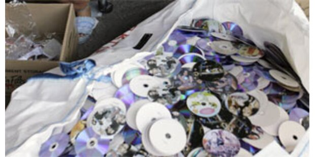 Gut 30.000 illegal hergestellte DVDs gefunden