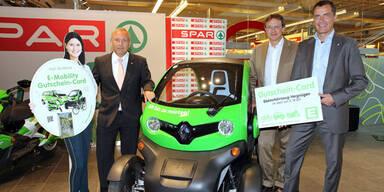 SPAR vermietet jetzt auch Elektroautos