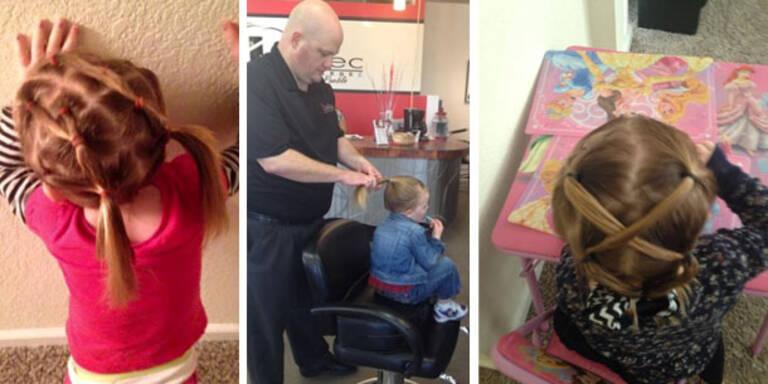 Für Tochter Izzy lernt er Frisurentechniken