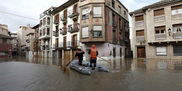 überschwemmungen Spanien