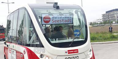 Hier fährt der erste fahrerlose E-Bus durch Wien
