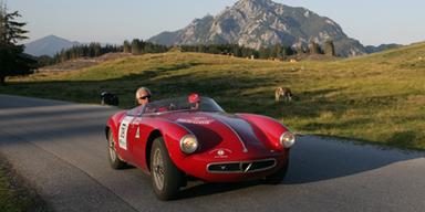 Mit diesem Alfa Romeo wird Tobias Moretti an den Start gehen. Bild: (c) Ennstal-Classic