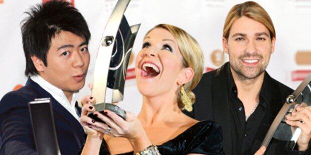 Stolze Gewinner: Topstars bei Echo-Gala