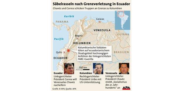 Venezuela weist kolumbische Diplomaten aus