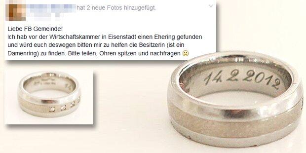 Ring gefunden: Tausende suchen Besitzerin