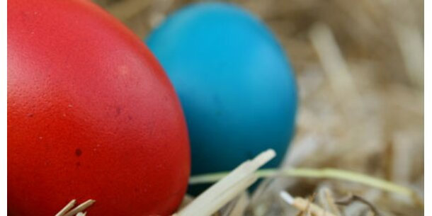 Gefärbte Eier schneiden schlecht ab