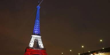 Eiffelturm strahlt wieder in blau-weiß-rot