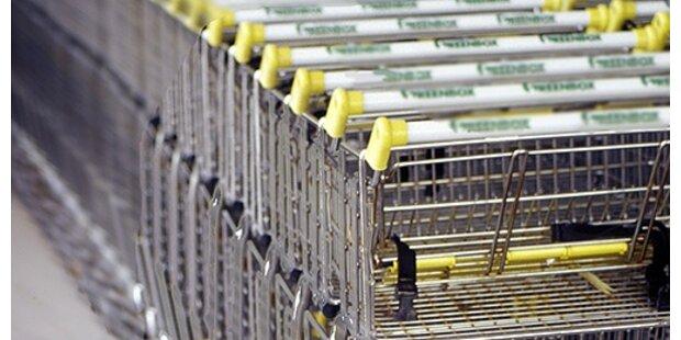 Vollgeladenen Einkaufswagen gestohlen