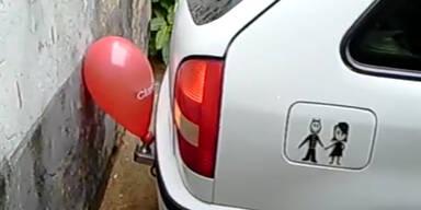 Parken leicht gemacht: Luftballon als Hilfe