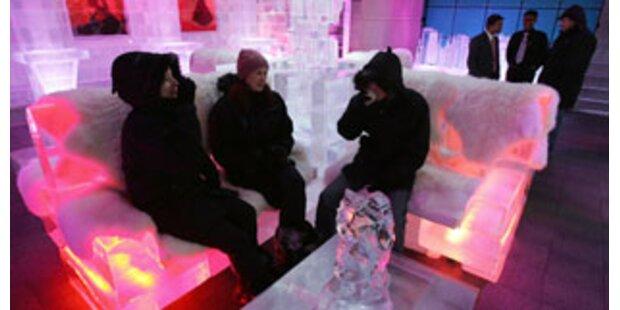 In Dubai steht die erste Wüsten-Eis-Lounge
