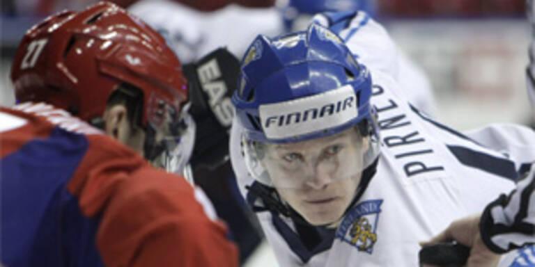 Finnland gegen Russland.