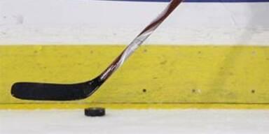 eishockey puk mit schläger
