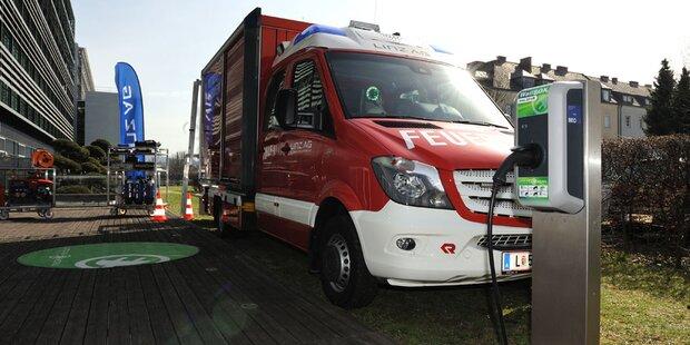 Kreisel baute 1. Feuerwehr-Elektroauto