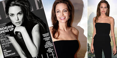 Umwerfend schön: Angelina Jolie am Elle-Cover