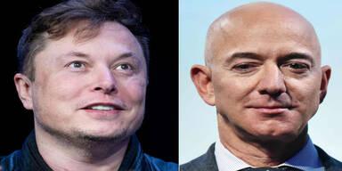 Mega-Streit zwischen Musk und Bezos entbrannt